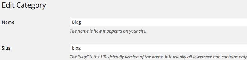 Change WordPress Category