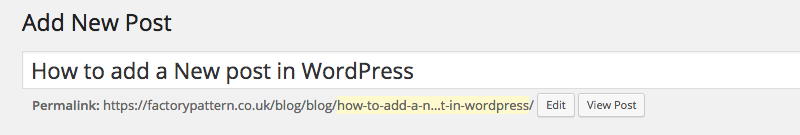 WordPress Post Title