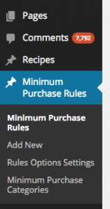 Minimum Purchase Rules Plugin