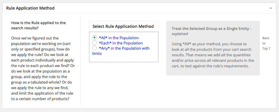 Choose Rule Application method