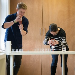 Sean Davies and Ruth Hunter getting the most from their bottles - photo Sarah McDowall