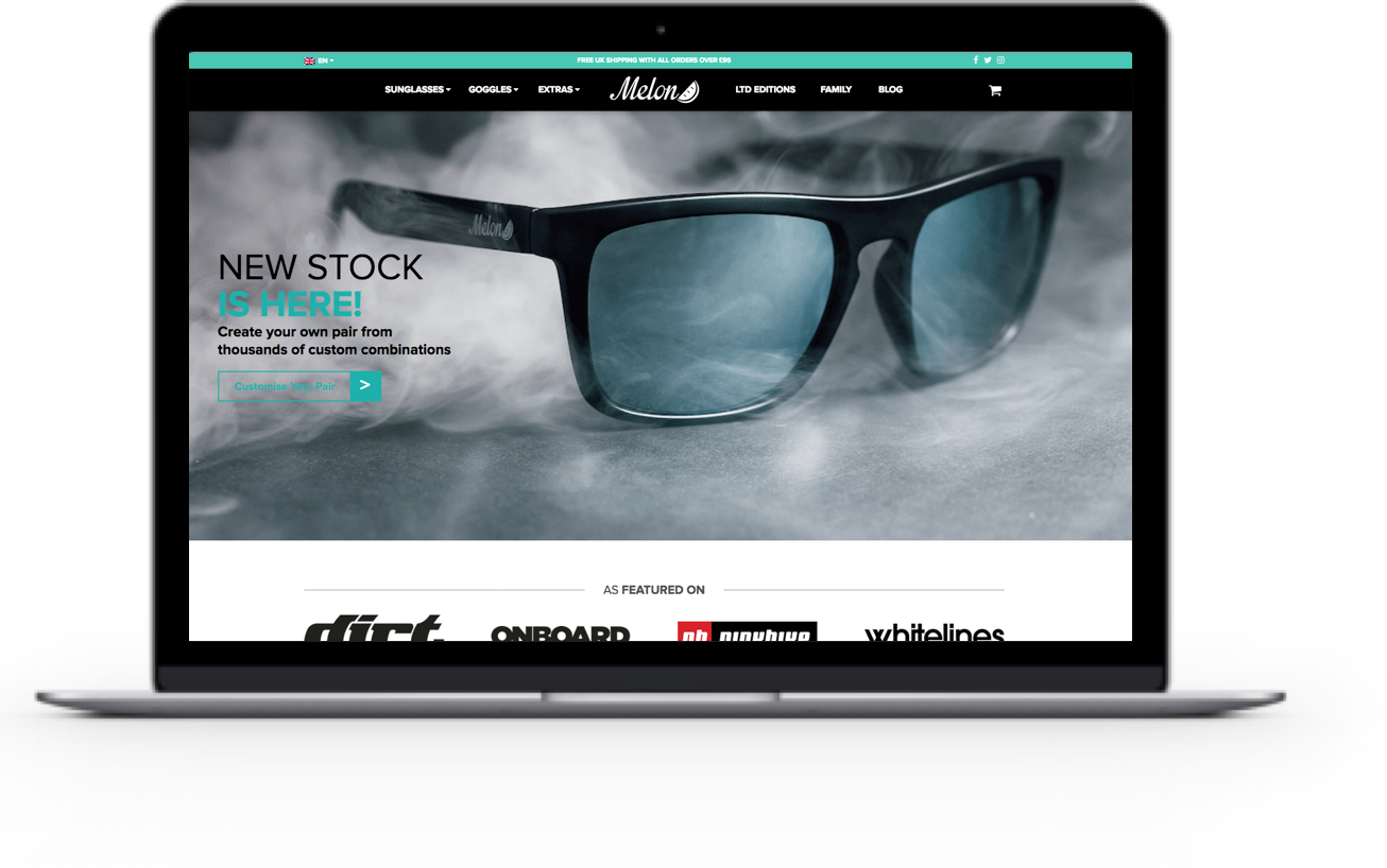 Ecommerce Web Design for Melon Optics
