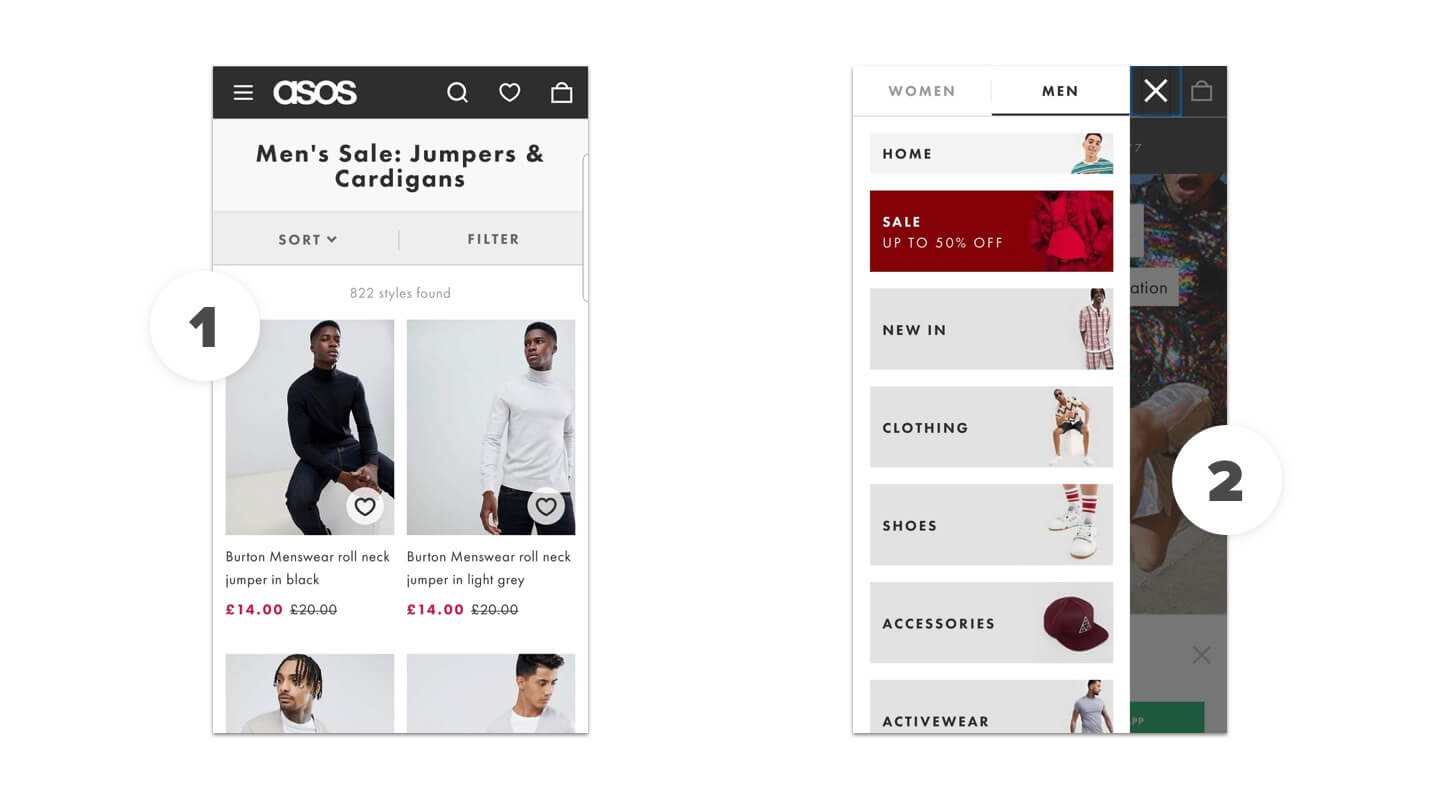 ASOS Mobile Ecommerce Design