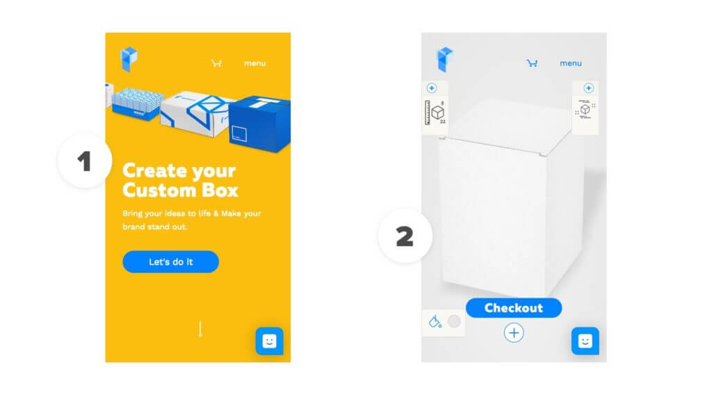 Packwire - ecommerce site for customising boxes.