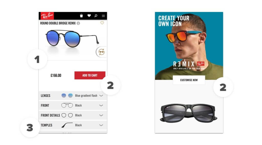 Ray-Ban Mobile Website