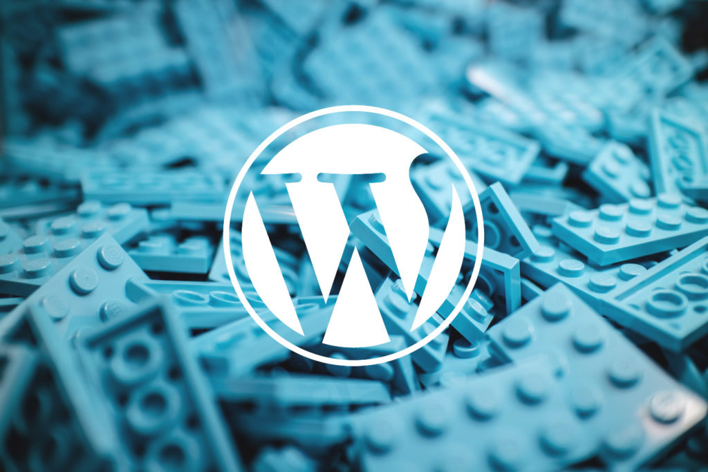 WordPress logo representing the scale of a bespoke site
