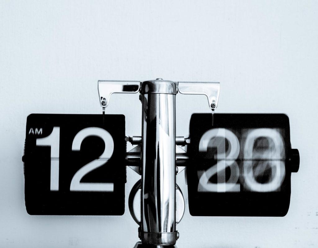clock spinning fast