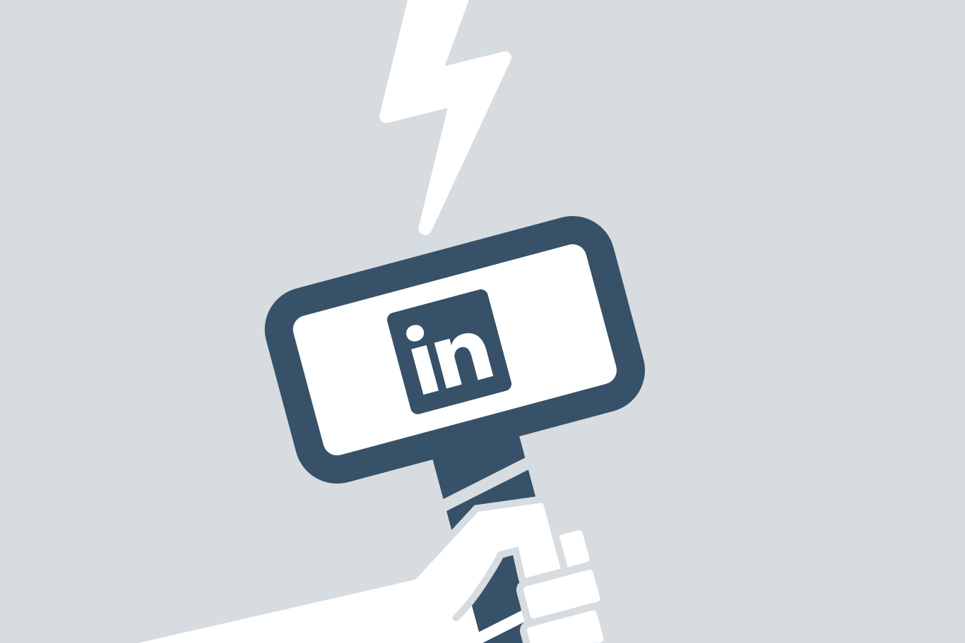 LinkedIn Powerful Social Media Tool Illustration