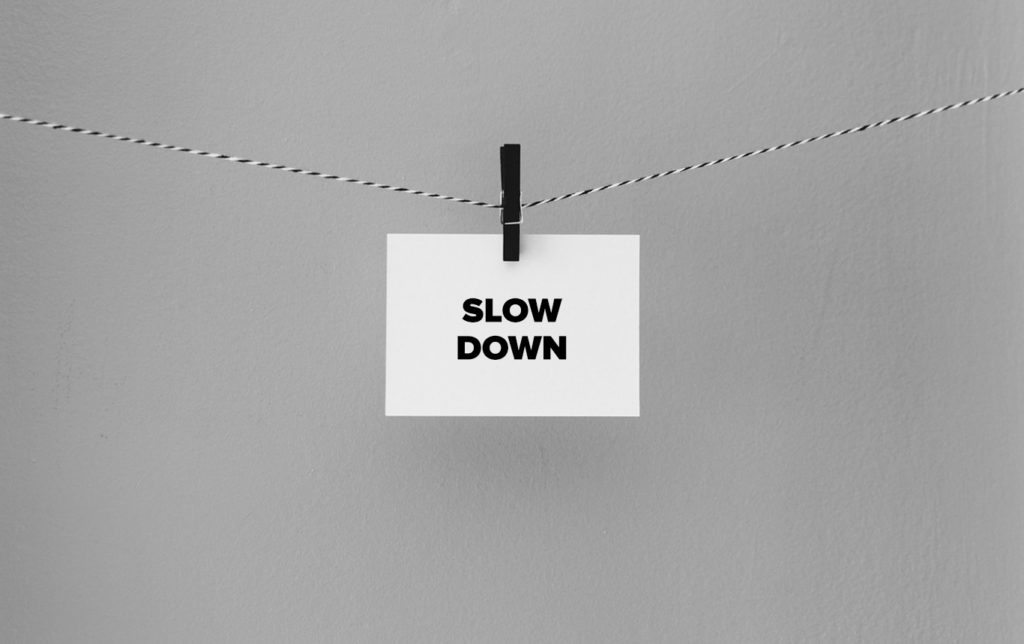 Slow down note on string