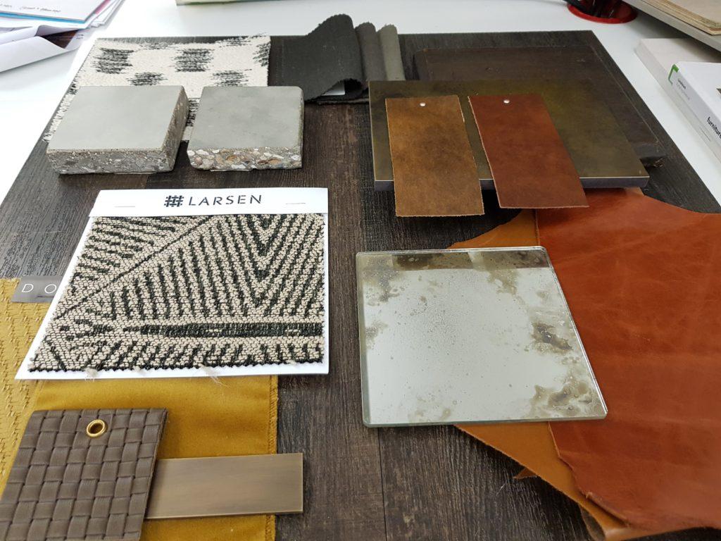 Interior designer's moodboard