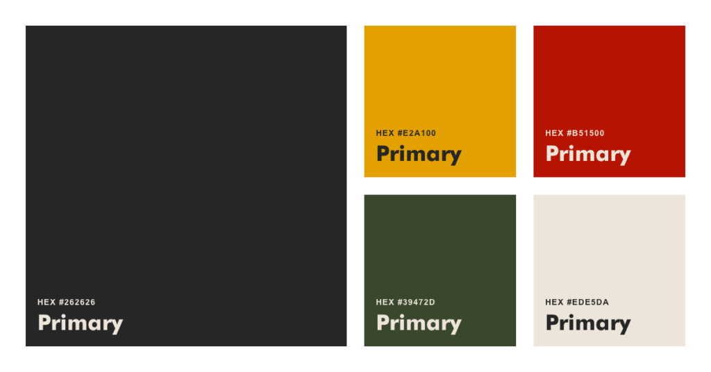 Primary Dansaki brand colours