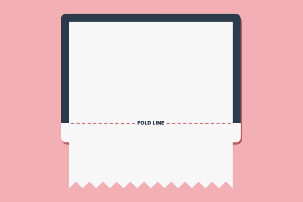 Webpage layout and fold