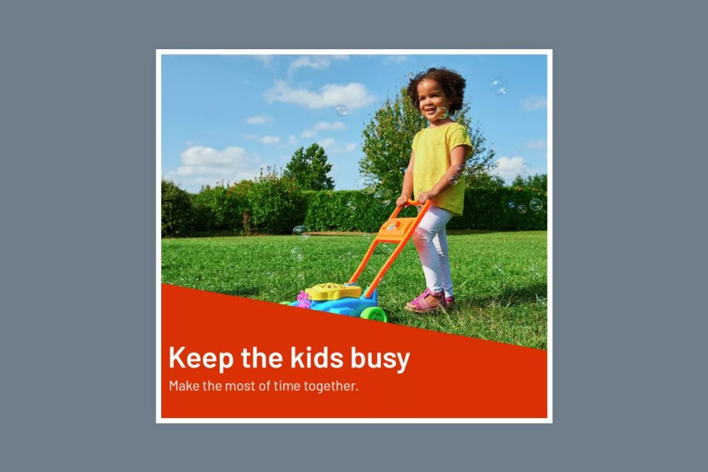 Argos - keep the kids busy category