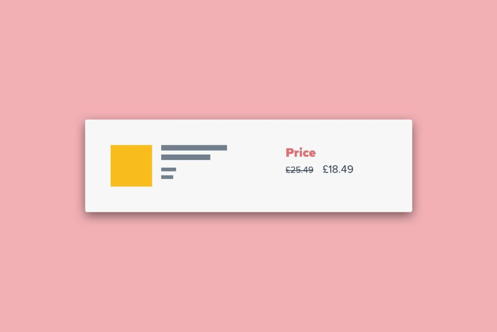 eCommerce UX Clear Pricing Discount