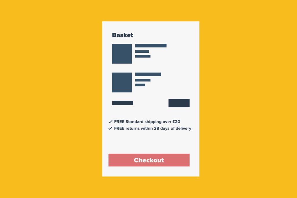 eCommerce ux Shipping and Returns